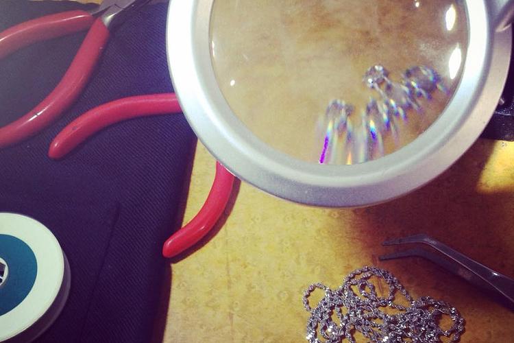 sparkles at the studio